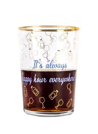 Rakle 510 cc Happy Hour Meşrubat&Kokteyl Bardağı , Altın